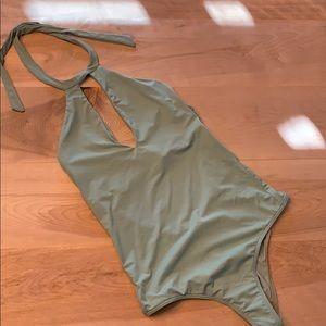 O'Neil green one piece swimsuit